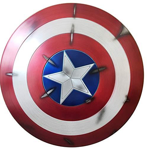 Capitn Amrica Shield, Avengers 4 Juguetes Para Adultos, Pelcula 75 Aniversario Edicin De Coleccion Aleacin De Grado De Aviacin 1 A 1 Metal Shield +Soporte A,60cm