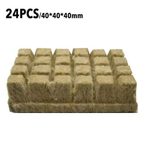 Steinwolle Anzuchtmatte,Rockwool Starter Plugs Rockwool Stonewool Starterwürfel Für Stecklinge Klonen Von Pflanzen Vermehrung Und Samenstart