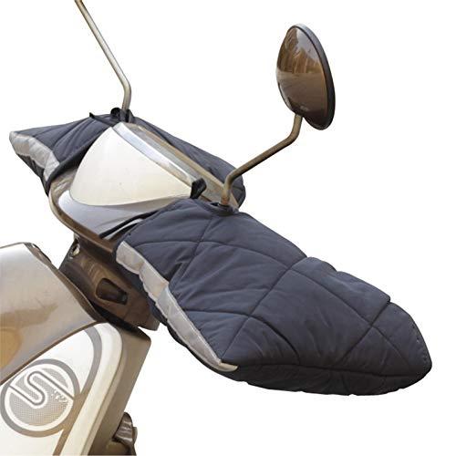 luckything Guantes para manillar de bicicleta, moto, scooter, forrados, resistentes al viento, impermeables, guantes de moto de invierno, guantes de protección para el invierno