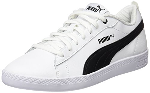 PUMA Damen Smash Wns v2 L Zapatillas, Weiß White Black, 39 EU