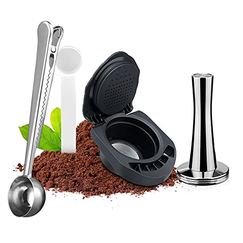 ZHANGZHI Icafilas - Adaptador reutilizable para cápsulas de café de sabor dulce, compatible con la máquina de café Genius acceso al café (Colore : Kaki Scuro)