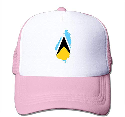 Four Seasons SHOP Flag Map of Saint Lucia Nylon Adult Baseball Cap Leisure Hat