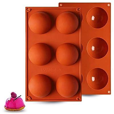 ?2 Packs?Hot Chocolate Bomb Mold, 6 Holes Silic...