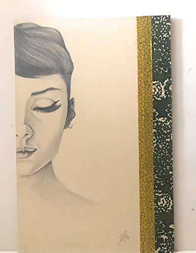 CUADRO Audrey Hepburn 1 pintado a mano