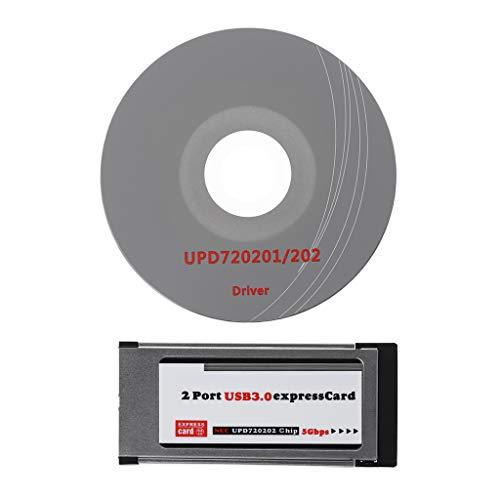 siwetg 2 Ports USB 3.0 ExpressCard ExpressCard 34 mm / 54 mm verdeckter Adapter für Laptop