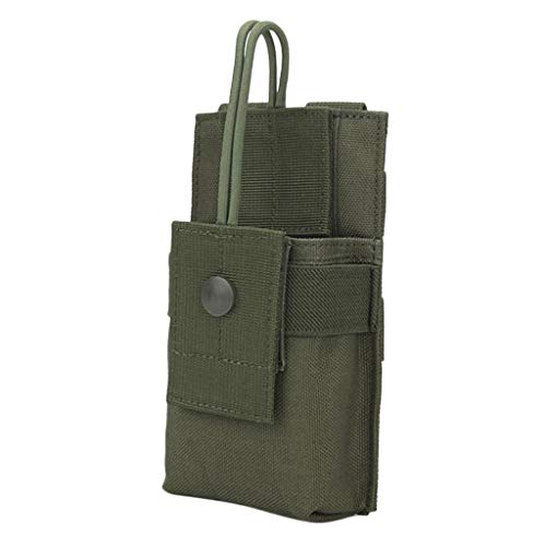 MagiDeal Nylon Molle Funkgerätetasche Taktische Walkie Talkie Tasche Gürteltasche Hüfttasche, 18,5 x 9 x 4 cm - Armeegrün