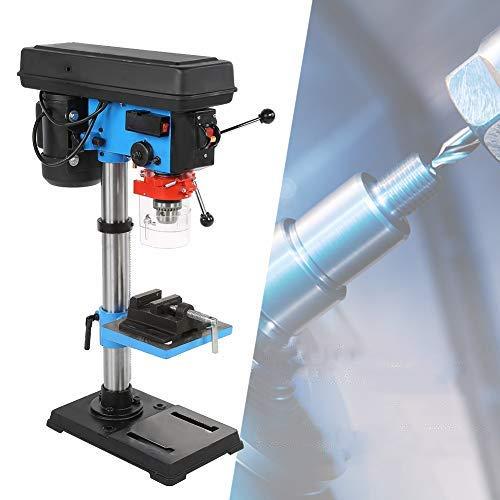 Taladro de Banco de Alta Precisión 550W con Ajustador Trozos y Llaves para Taladrar, Altura del Taladro Mesa de 16mm, 34 x 20,5 x 72 cm