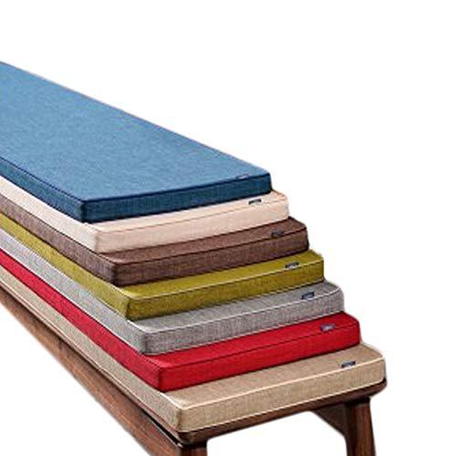 Yzzseason, cuscino antiscivolo per panca da 3/5 cm, con cravatta, dondolo a 2 o 3 posti, tappetino in legno di ricambio per interni ed esterni (rosso, 35 x 180 x 3 cm)