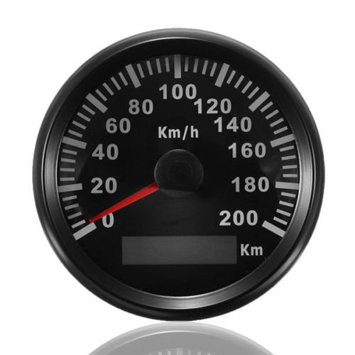 ELING KM GPS Tacho Kilometerzähler 200km/h für Auto Marine Truck mit Hintergrundbeleuchtung 85mm 12V/24V