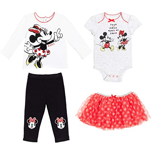 Disney Minnie Mouse Baby Girls Layette Set Bodysuit Shirt Pants Skirt 0-3 Months