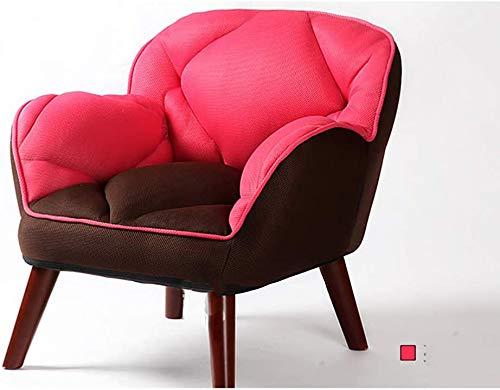 JINPENGRAN Hohe Rückenlehne und Cozy Armlehne Sofa, Stuhl, für Wohnzimmer, Schlafzimmer, Studienraum,Rot