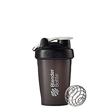 Blender Bottle Classic Loop Top Shaker Bottle, 20-Ounce, Black/Black