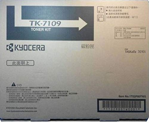 Kyocera 1T02P80CS0 Model TK-7109 Black Toner Kit for use with Kyocera/Copystar CS-3010i, CS-3011i, TASKalfa 3010i and 3011i Monochrome Multifunctional Printers; Up to 20000 Pages Yield at 5% Coverage