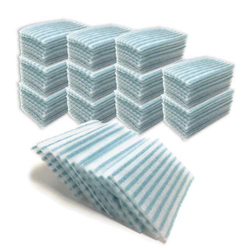 120 Esponjas Jabonosas Desechables. 12 paquetes de 10 esponjas de 20 x 12 cm.