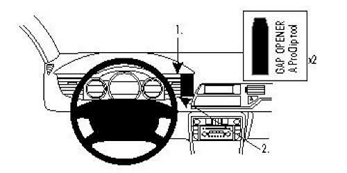 Brodit ProClip Support de fixation pour Citroen C5 III 08-17 Noir