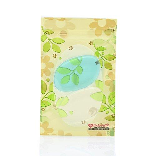 Dolovemk 2 pièces Beauté Sili-éponge Coque en silicone Maquillage éponge Pad de fusion pour BB Crème liquide.