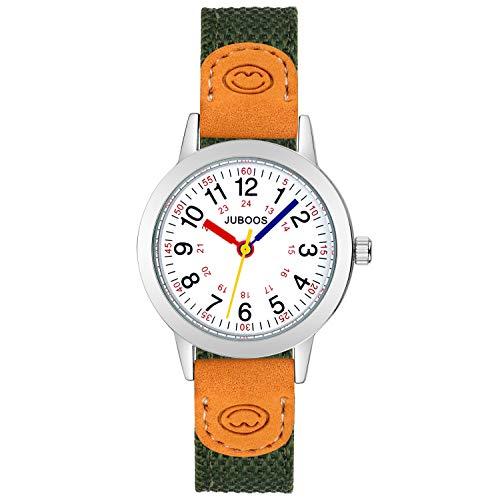 Orologio da polso per bambini, analogico, per ragazzi, ragazze, al quarzo, impermeabile, per bambini e ragazze, (Verde)