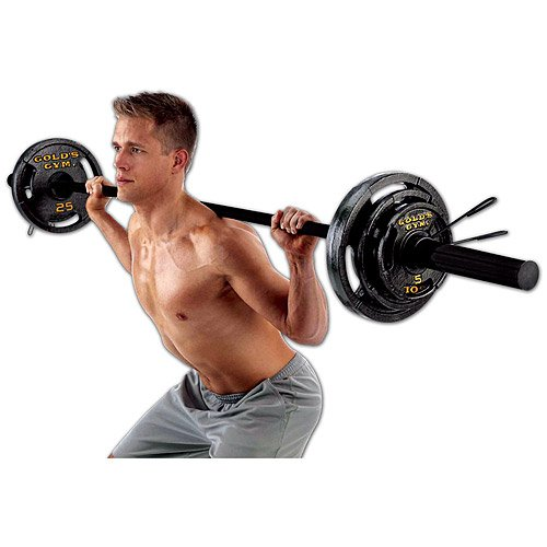 Olympic Weight Set With Bar by Golds Gym