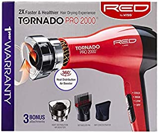 RED by KISS Tornado Pro 2000 Hair Blow Dryer BD08N