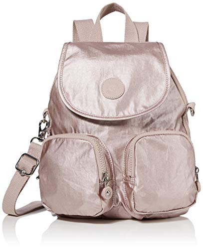 Kipling Damen Firefly Up Rucksack Pink (Metallic Rose)