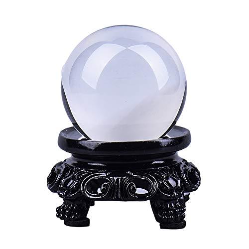 dongdong Bola Vidrio Adornos de Bola de Cristal Natural Puro Natural Bola de Cristal Blanco Lucky Feng Shui Ornamentos Bola de Cristal