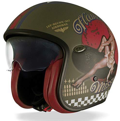 Premier Helm Vintage Pin Up Military BM, mehrfarbig XL Kaki