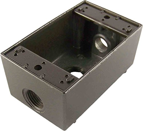 Greenfield B23BRS Series Weatherproof Electrical Outlet Box, Bronze