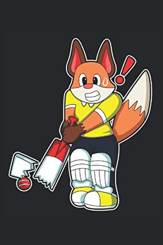 Cricketspieler Notizbuch, 120 Seiten: Fuchs - Geschenke - Cricketspieler Notizbuch - Tagebuch für Frauen, Männer und Kinder - 6x9 Zoll (Ähnlich DIN A5) - Kariert