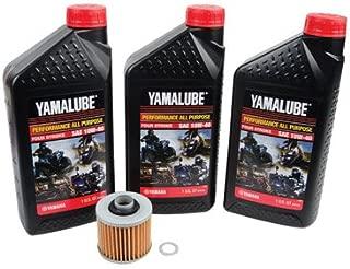 Oil Change Kit With Yamalube All Purpose 10W-40 for Yamaha Viking 700 FI 4x4 2014-2019