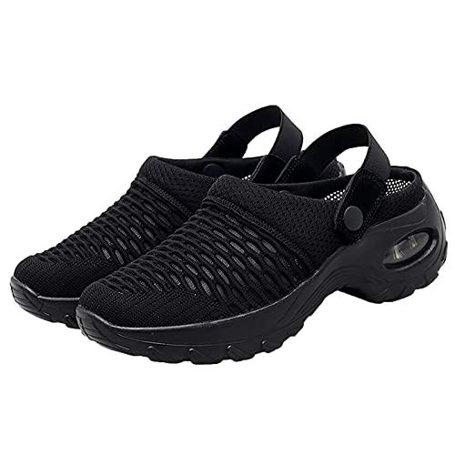 poetryer Zapatillas De Mujer Transpirables Sandalias De Malla Sneaker De Playa Unisex Tacón De Cuña para Deportes Al Aire Libre En La Playa De Verano
