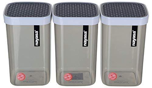 Nayasa Plastic Container- 1500ml, 6 pieces, Multicolor