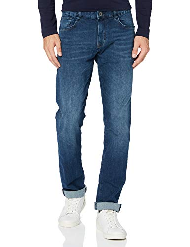 TOM TAILOR Herren Jeanshosen Josh Regular Slim Jeans, 10281-mid Stone wash Denim, 40W / 34L