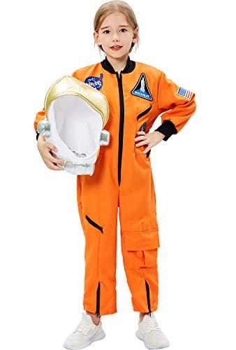 Tacobear Disfraz Astronauta Niño con Casco Astronauta Juego de Roles para Halloween Astronauta Cumpleaños Cosplay Disfraces para Niños Niñas (S, 5-7 Años)