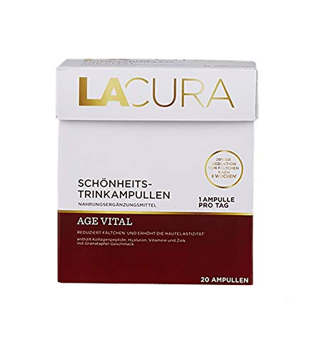 LACURA AGE VITAL Schönheits Trinkampullen 20 `a 25 ml Ampullen Nahrungsergänzungsmittel