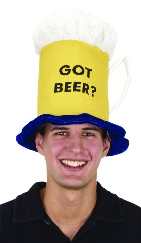 Jacobson Hat Company Men's Felt Got Beer Mug Hat, Yellow, One Size