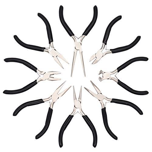 Baymyer Jewelry Pliers - 8pcs Jewelry Making Pliers Tools Kit Jewelry Pliers Set - Pliers for Jewelry Making Supplies, Jewelry Repair, Wire Wrapping, Crafts