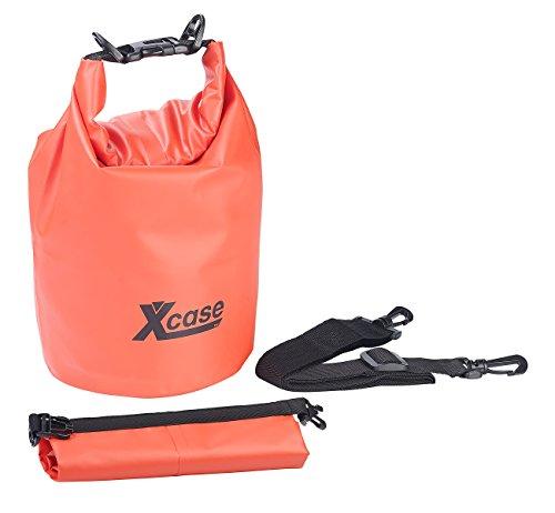Xcase Schwimmender Seesäcke: Wasserdichter Packsack, strapazierfähige Industrie-Plane, 10 l, rot (Dry Bag)