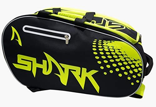 Raqueteira de Beach Tênis e Pedal Shark Amarela e Preta
