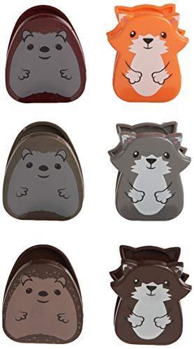 Kikkerland Woodlands Bag Clip Set of 6