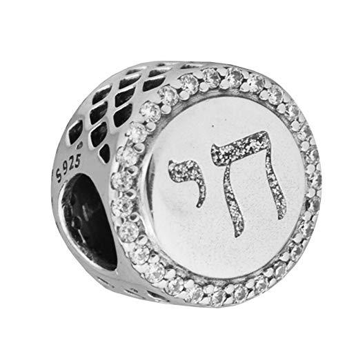 Pandora 925 Sterling Silver DIY Jewelry CharmChai Life Charms se adapta a la pulsera de cuentas CZ claras para hacer joyas de Perle