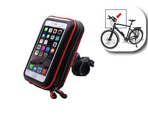Bolso de Bici Impermeables Soporte Móvil Teléfono,Soporte Movil Bici, 360° Rotación Soporte Movil Moto Bicicleta, Anti Vibración Porta Telefono para Teléfonos Móviles Inferior de 5.5 Inches-negro