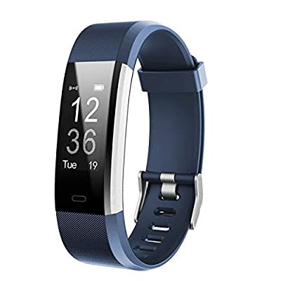 Lintelek Fitness Tracker - Activity Tracker with Heart Rate Monitor, Waterproof Smart Fitness Watch with Sleep Monitor, Step Counter, Calorie Counter, Pedometer Watch for Women Men and Gifts(Blue)