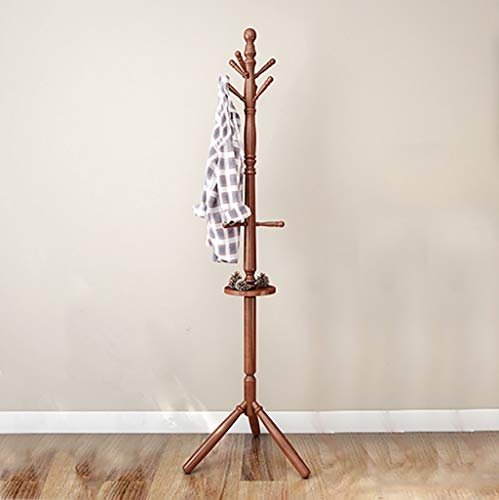 ZXL kapstok van Terra Design Boom met 9 haken en opbergvak kledingrek eenvoudig, van massief hout 183 cm (kleur: A)