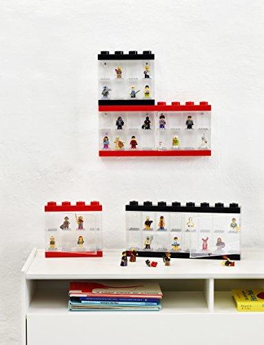 Room Copenhagen Lego Minifigure Display Case 16 Black, Large