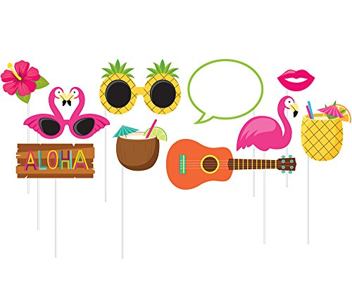 10-Piece Photo Props For Party, Luau
