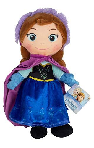POS 76208 - Disney Frozen Plüschfigur Anna, Weichpuppe ca. 30 cm groß, schon für Kleinkinder geeignet, wunderbar weich, Puppe zum Kuscheln und Liebhaben, ideal als Geschenk