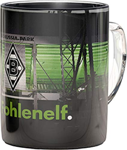 Borussia Mönchengladbach Zauberglas - Stadion - Magic Tasse, Kaffeetasse, Glas BMG - Plus Lesezeichen I Love Mönchengladbach
