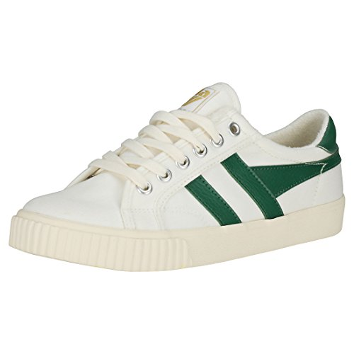 Gola Tennis Mark Cox Sneaker, Weiß (Off White/dk.Green Wn), 36 EU