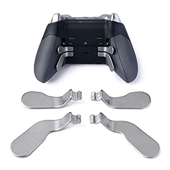 TOMSIN 4 pcs Interchangeable Paddles Metal Stainless Steel Replacement Parts for Xbox One Elite Controller  Model 1698
