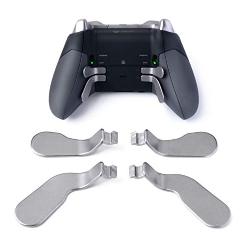 TOMSIN 4 pcs Interchangeable Paddles, Metal Stainless Steel Replacement Parts for Xbox One Elite Controller (Model 1698)
